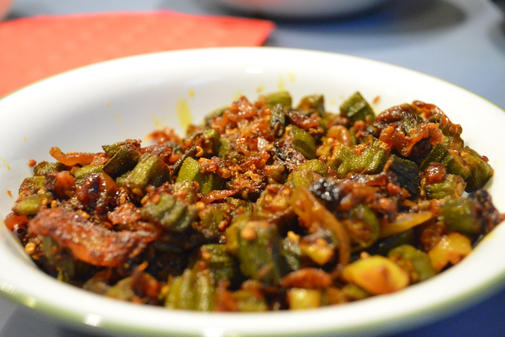 Indian-style fried okra (1/6)